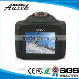 H.264 MOV format 1200mAh long time recording google 360 degree camera