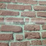 Embossed Textured Vinyl Bricks Stones Wallcovering Manufacture foshan,Guangdongwallpaper for hotel project home decor