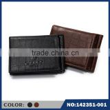 Support for custom manufacturers direct sale price of Black Brown Crocodile Leather Money Clip