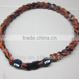 2014 ge-titanium braided rope necklace for baseball