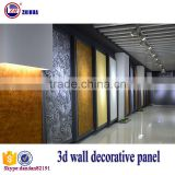 Eco-friendly 3d effect wood decorative wall panel for interior wall and ceiling decoration fireproof gypsum board wall partition