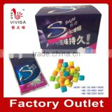 crispy colorful chewing gum (blister or bulk packing)