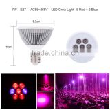 Factory price 7W E27 LED plant grow light