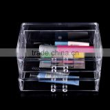 Plastic Transparent Cosmetic Organizer Storage Case Box Desktop Storage Drawer Shelf Cabinet Makeup Display Organizer