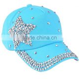 New fashion baseball cap wholesale rhinestone hats and caps