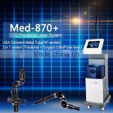Med-870+ 2015 hot sell ablative fractional laser laser tattoo removal training USA Coherent metal tube