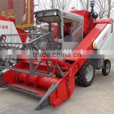 4LZ-2 65hp diesel engine Wheel Self-propelled Wheat and rice Combine Harvester machine with threshing