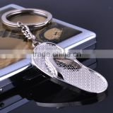 Wholesale slippers metal key chains/ slippers shape metal key rings on sale/Football shoes key chains/Soccer shoe key rings