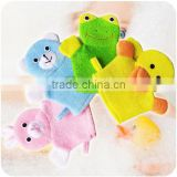 cartoon bear Shaped polyester Baby Bath Glove
