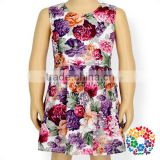 High Quality Baby Clothing Dresses Flower Patterns Design Sleeveless New Model Girl Dress