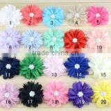 Wholesale Polyester Handmade DIY Satin Ribbon Flowers for Wedding Bridal Hand Bouquet Corsag Garment Accessories