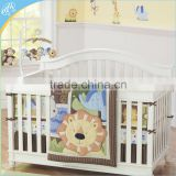 baby crib bedding patchwork quilt embroidery printing bumper