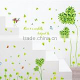 Butterfly Green Heart Grass Wall Sticker Removable PVC Home Decor Room Decal
