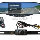 Car Bluetooth Wireless Camera Car Kit with Rearview Mirror