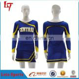 lycra dance custom cheerleader sets,colorful sublimation cheer uniforms,strechy cheerleading performance wear