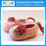 Wholesale Baby Girl Mary Jane's, baby booties, crochet shoes, Infant Girl Pink Rose Slippers