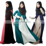 2016 New Fashion All Season Women Jubah High Quality Long Sleeve Evening Dress Muslim Jubah