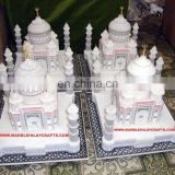 India Agra Taj Mahal, White Marble Beautiful Showpiece