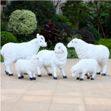 china factory plastic grass sculpture artificial topiary animal sheep shape amusement park decoration