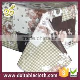 patchwork embroidery like elegant tablecloth backing with non woven fabric