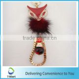 Red Fox Metal Pendant design for key chain, bags, clothings, belts and all decoration
