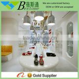 high quality modern pure white wood shoe rack furniture for shoe store                                                                         Quality Choice