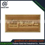 high end gold leather luggage tag,customized plastic nameplate in low price