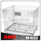 High quality collapsible metal warehouse storage cage/pallet