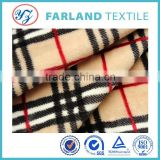 Factory direct sale , Double-sided print tartan plaid Flannel fabric , for home textile fabric