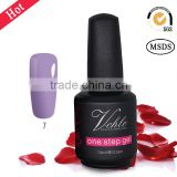 100colors long-lasting 3 in 1 one step color gel nail polish, no need base and top coat gel