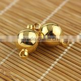 JF1293g 8mm 10mm 12mm Gold Plated Stainless steel round ball magnet magnetic clasps                                                                         Quality Choice