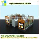 Moden New design glass cell phone kiosk,cell phone display counter mobile phone display cabinet