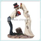 Day of the dead Married Couple skull wedding figurine for halloween decor