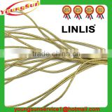 Custom 3mm golden color round elastic band and circular elastic rope and elastic tow rope