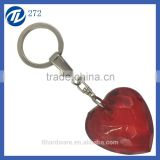 red acrylic heart shaped plastic keyrings