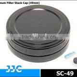 JJC SC-49 49mm Screw-in Metal Filter Stack Cap/Camera Filter case,protecting filters from dust and scratches