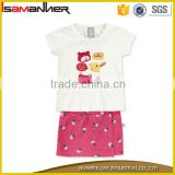 2pcs summer baby body suit t-shirt and skirt fashion baby clothes wholesale                                                                                                         Supplier's Choice