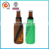 Factory Outlet Zip Style 3mm Thick Beer Glass Neoprene Bottle Cooler Bag