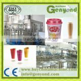 Milk Tea Cup Sealing Machine automatic production line/Milk tea beverage Production Line for sale