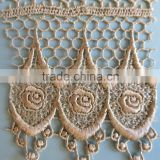 HOT ! High quality new design gold chemical lace trim                                                                         Quality Choice
