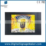 "Indoor video promotional wall mounted 15"" 1080P HD lcd advertising player/display/monitor"