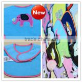 "2014 Newest Cotton Baby Bib Hot Sale Multi Styles Cartoon Pattern Baby Apron Bib ""11"""