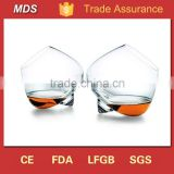 Cognac unique shape wobbly rocking whisky glass                                                                         Quality Choice