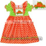 Beautiful pumpkin smocked dress for Thanksgiving