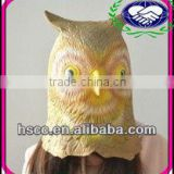 OWL HEAD FULL OVERHEAD LATEX ADULT ANIMAL MASK ONE SIZE FITS ALL