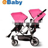 Twins baby stroller,single/double baby pram Convertible,Before and after sitting ,with car seat                                                                         Quality Choice