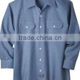 men 100% cotton comfortable work shirts wholesale