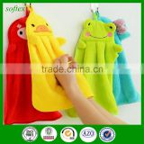 Lovely Kids Nursery Hand Towel Cartoon Animal Kitchen Bath Hanging Wipe Towel