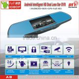 DTY car wireless reversing camera with rearview mirror,android car vehicle dvr recorder,A8