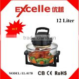 12L black color portable electric halogen convection oven electric turbo air fryer without oil